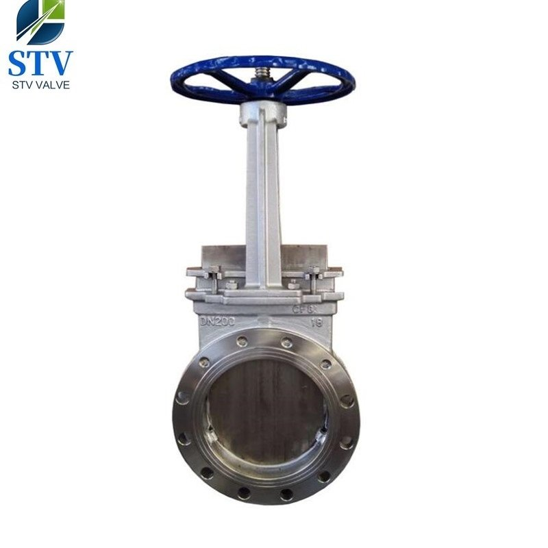 Flange Knife Gate Valve Din Pn16 Cf8 Body Dn450 China
